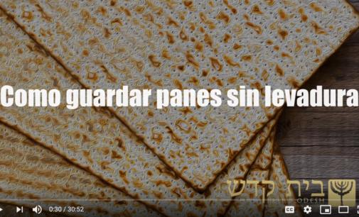 Fiestas de Yejováh: Como guardar panes sin levadura. Ministro Sheyla Canul Petul